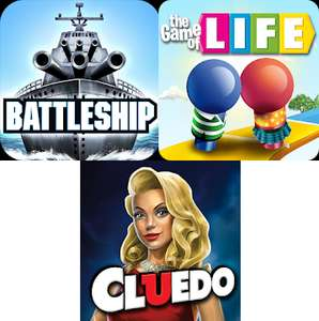 Digitale versies van Zeeslag, Cluedo en Levensweg voor €0,99 in Google Play Store