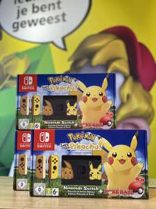 Nintendo switch met de game Lets go Pikachu nu bij de intertoys
