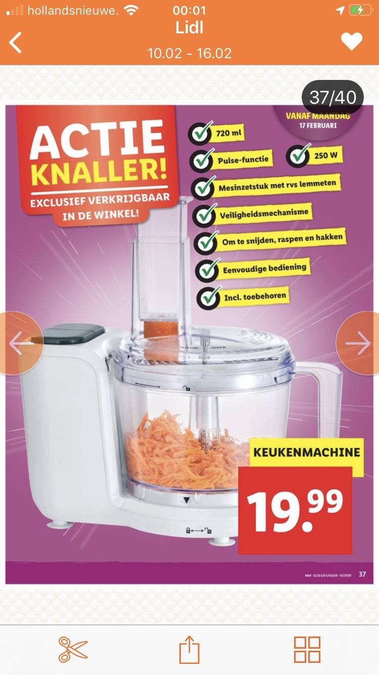Lidl keukenmachine slechts €19,95