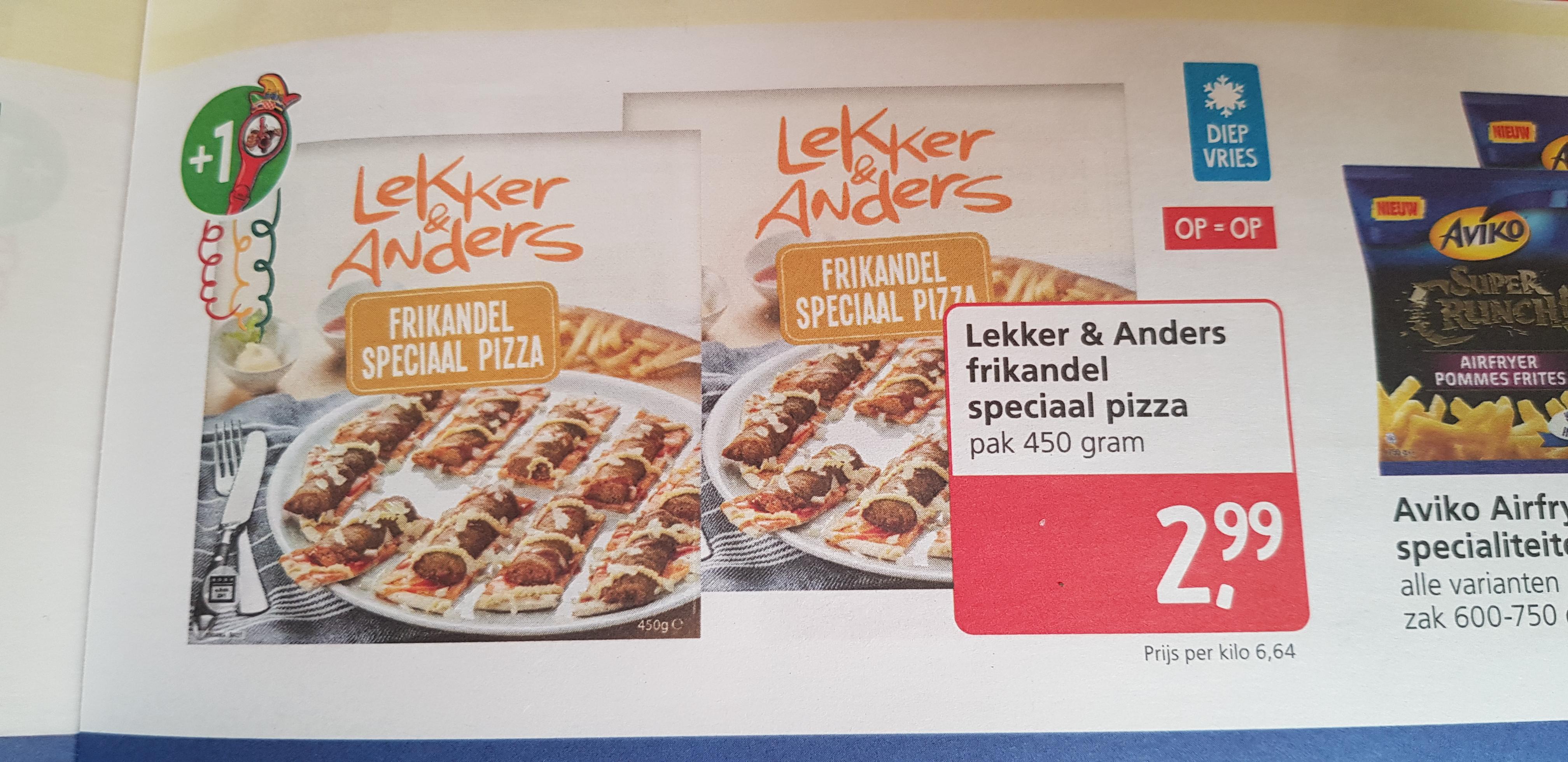Lekker & Anders Frikandel speciaal pizza @ Jan Linders
