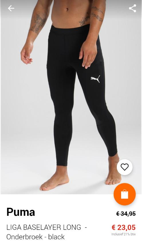 LIGA BASELAYER LONG - Onderbroek - black