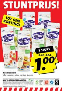 2x Optimel Drinkyoghurt €0,99 BONI