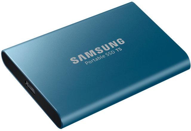 Samsung Portable SSD T5 500GB Blauw @ Media Markt