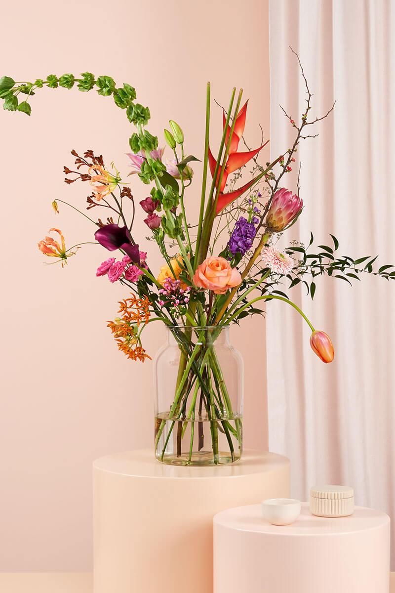 Gratis vaas bij je eerste bloomon bestelling!