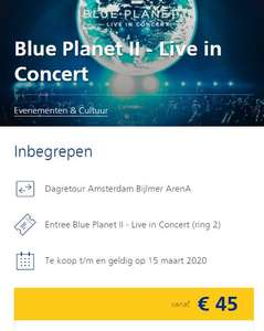 Blue Planet II - Live in Concert ticket inclusief treinreis.