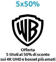 Warner Bros 4K en bluray films: 5 bestellen = 50% korting
