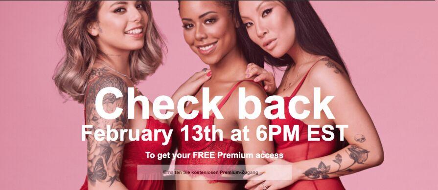 Gratis Premium toegang voor Valentijnsdag @ Pornhub