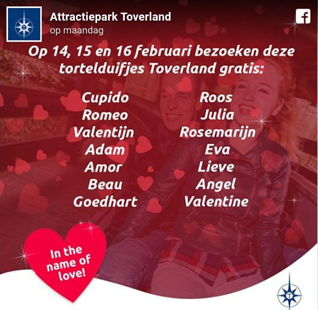 Gratis toegang tot Toverland als je naam op de lijst staat :)