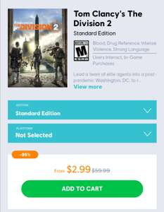 The Division 2 PC $2.99\€2,85 @ Uplay US (VPN)