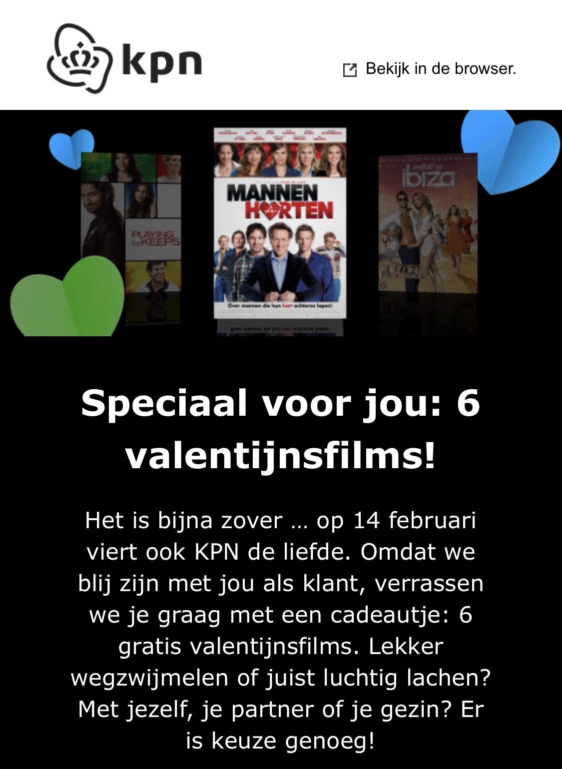 [KPN] Speciaal voor iTV-klanten: 6 gratis valentijnfilms