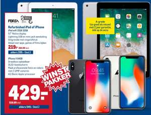 iPhone X 64gb (zwart of zilver) (Forza Refurbished A-Grade) @Makro