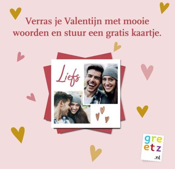 Verras je Valentijn met mooie woorden en stuur een gratis kaartje
