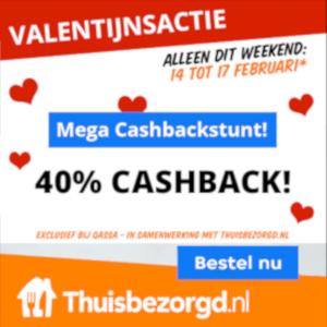 40% cashback bij Thuisbezorgd via Qassa.nl
