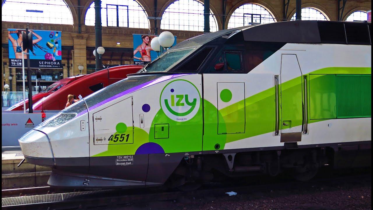 Treinkaartje voor IZY (by Thalys) met bijna 50% korting (Brussel-Parijs)
