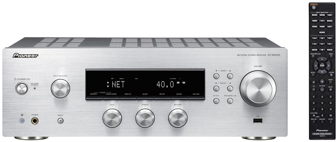 Pioneer SX-N30AE receiver (2x 135W, WiFi, Streaming, Chromecast, Multiroom, FM Tuner)