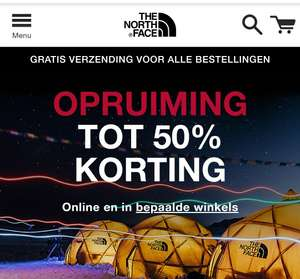 The North Face Sale. BIJNA alles in de sale met 50% Korting.