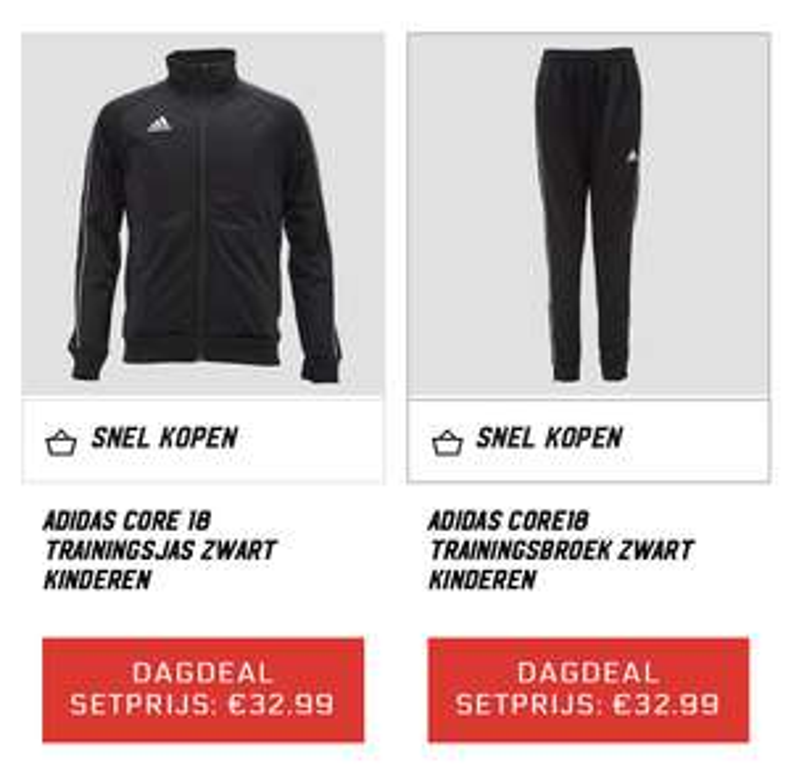 Dagdeal AktieSport; Adidas trainingspak
