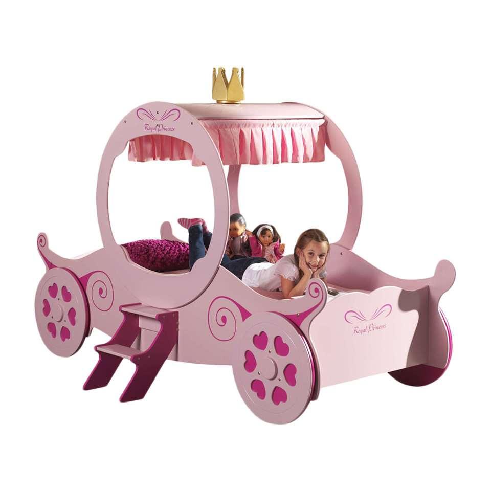 Prinsessen koetsbed roze uit MDF voor €348 inc verzending @ Leen Bakker