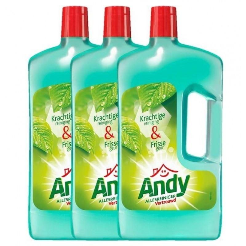 Andy Vertrouwd Allesreiniger - 3x 1L - Voordeelverpakking @ Bol.com