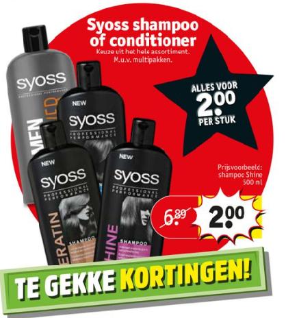 SYOSS Shampoo en Conditioner bij Kruidvat 500 ml voor