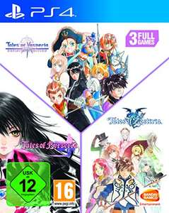 Tales of: Vesperia + Berseria + Zestiria (PS4) @ Amazon.de