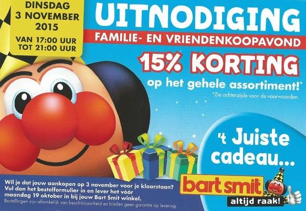 Dinsdag 3 en woensdag 4 november 15% korting op bijna alles (10% op games, 5% hardware) @ Bart Smit Winkels