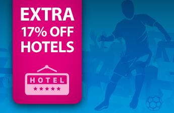 €15 korting per hotelovernachting bij Ebookers