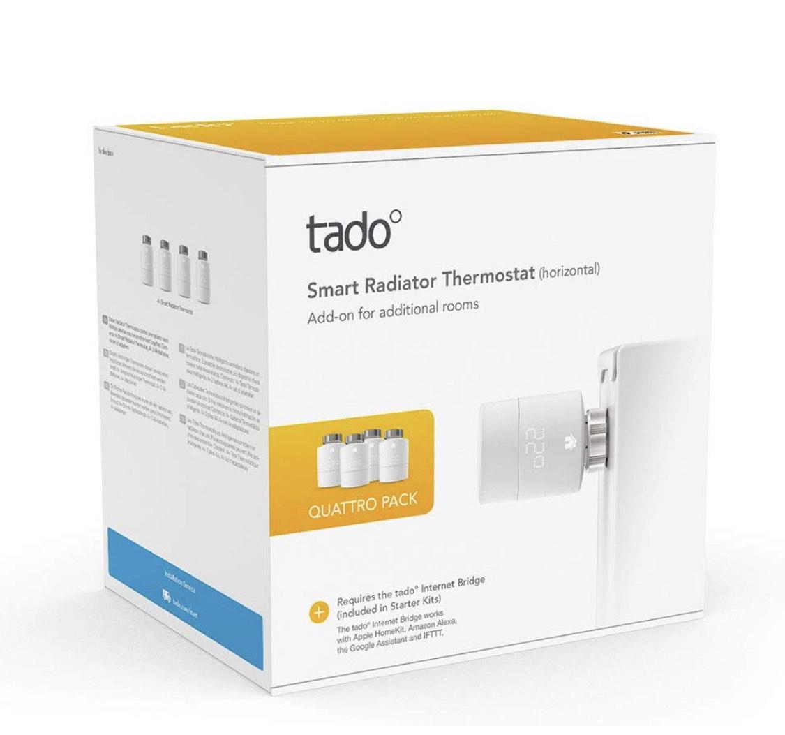 4-Pack Tado radiatorknoppen - 179,99