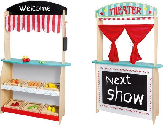 Jouéco 2 in 1 Theater en Winkel met Accessoires speelgoed @ bol.com