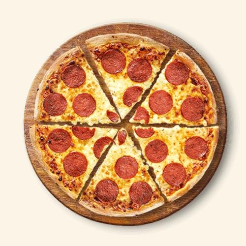 Domino's Pizza Perfect Pepperoni, Margaritha, Funghi, Forestiere en Bacon & Onion