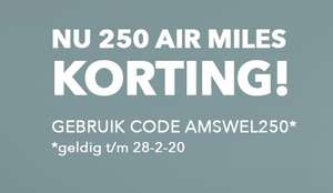 250 Air Miles korting @ Air Miles Shop
