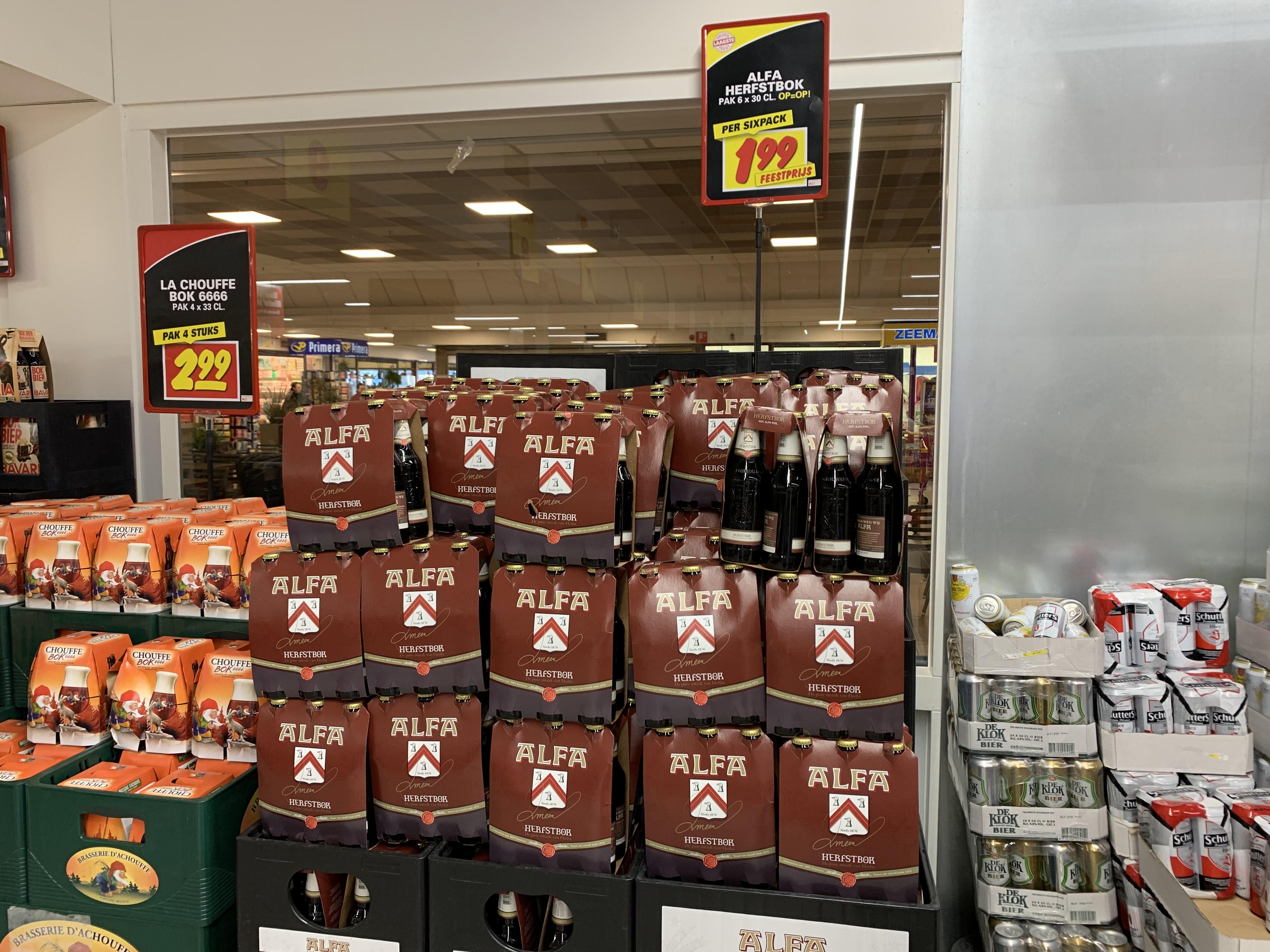 Alfa herfstbok bier (6x30cl) voor €1,99 @ Nettorama