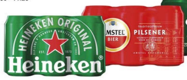 Amstel/Heineken 6-pack bier - 2 halen, 1 betalen OP=OP @ Poiesz
