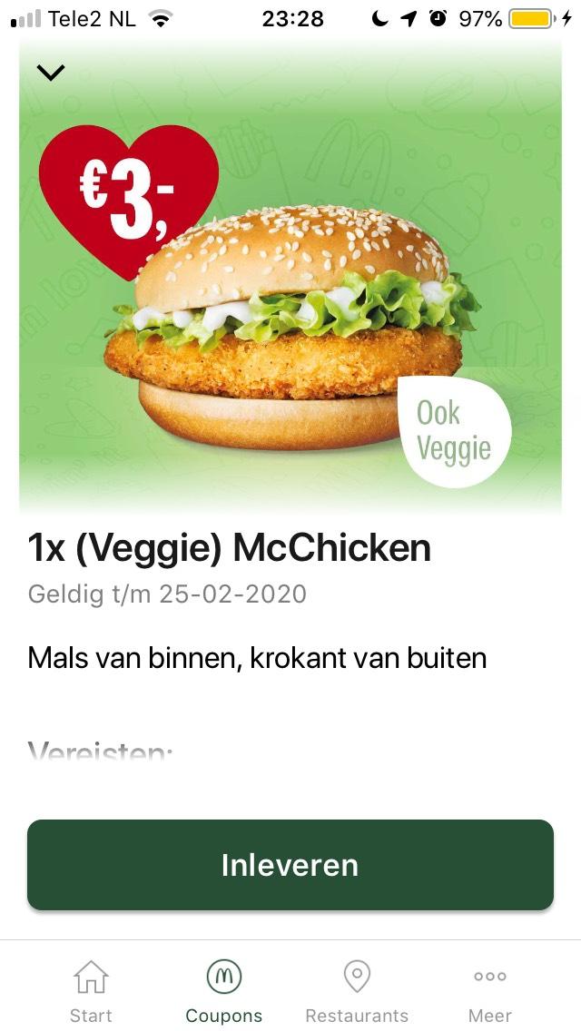 McChicken of Veggie McChicken & andere kortingscodes (week 7)