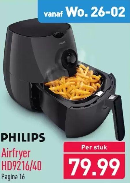 Philips Airfryer HD9216/40 (vanaf 26-02) @Aldi