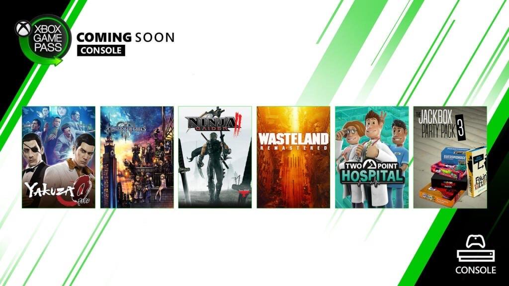[Xbox Game Pass] Gratis games februari - Kingdom Hearts III / Yakuza 0 / Two Point Hospital / Ninja Gaiden II / Wasteland Remastered