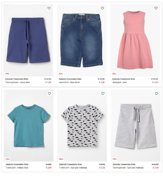 'Zalando Essentials Kids' kindermode -70% (35+ items - va €2,69) @ Zalando