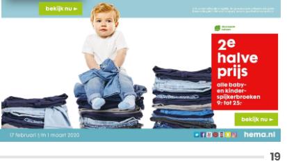 alle spijkerbroeken 2e halve prijs voor baby en kind bij HEMA.nl en winkels