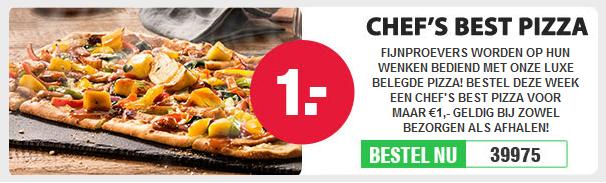 Chef's Best Pizza voor maar €1,- @ Domino's Pizza