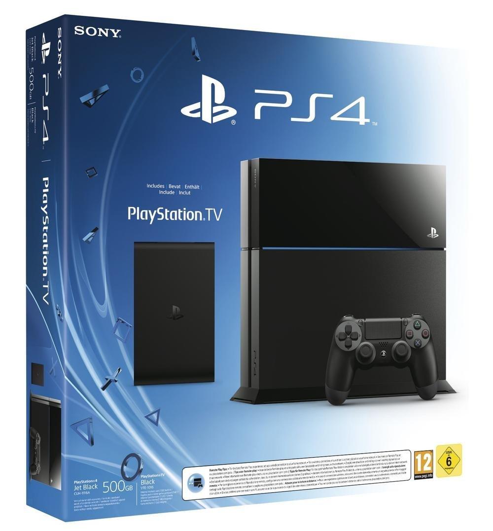 PS4 500GB Console + Playstation TV en Game Voucher voor €323,41 @ Amazon France