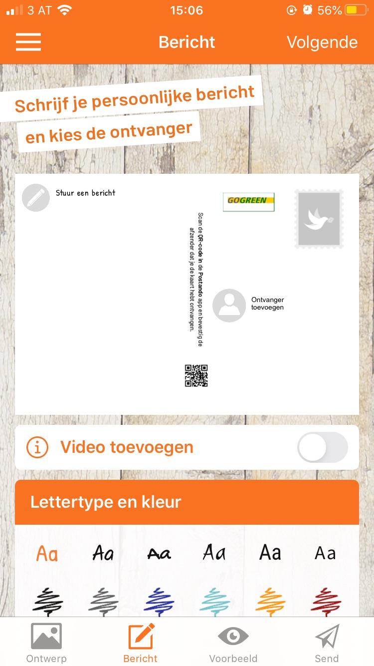 Stuur een gratis ansichtkaart met uw eigen foto's [Postando App Android & iOS]