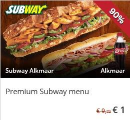 Premium Sub menu bij Subway Alkmaar voor 1 euro! @ SocialDeal