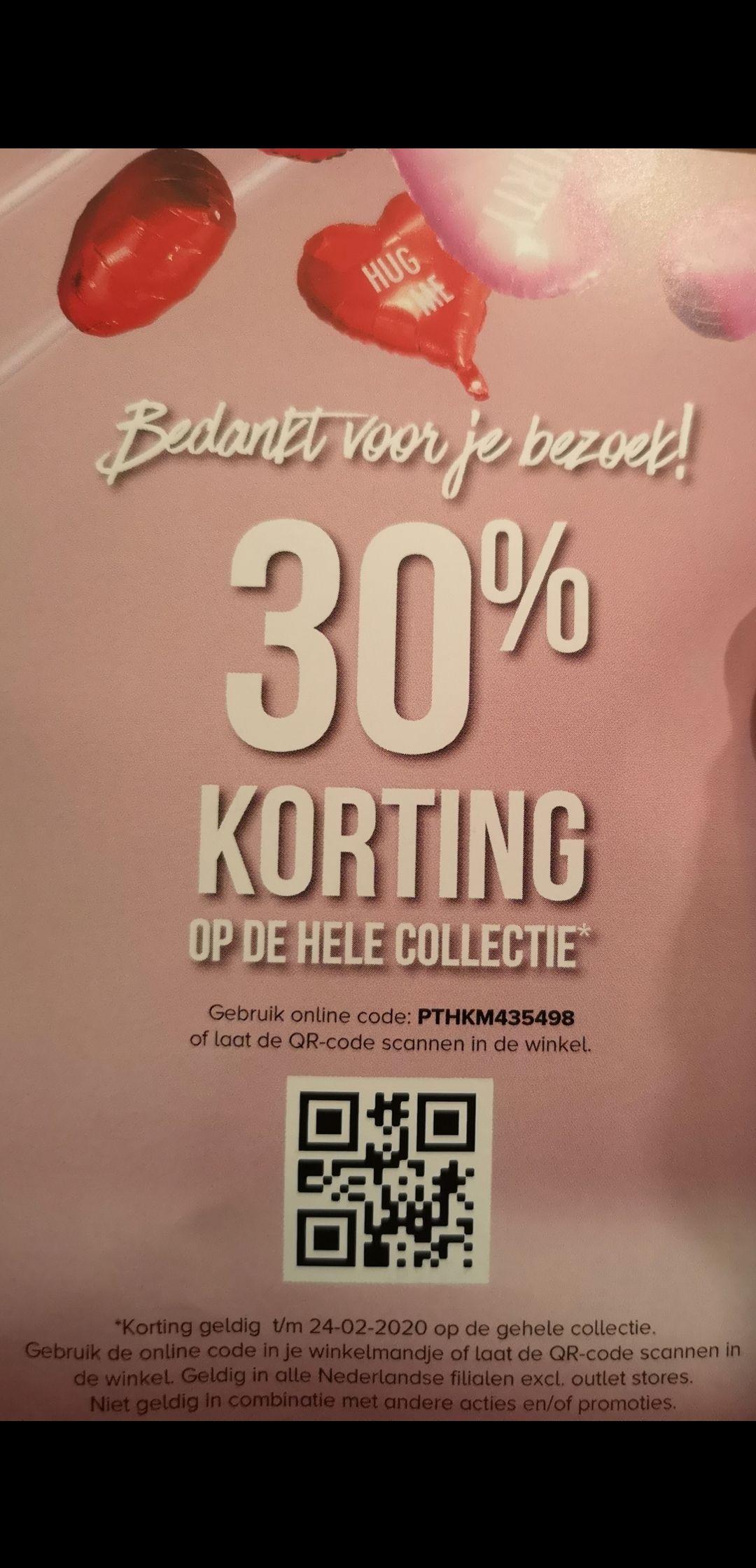 30% korting op de hele collectie bij Hunkemöller (NL)