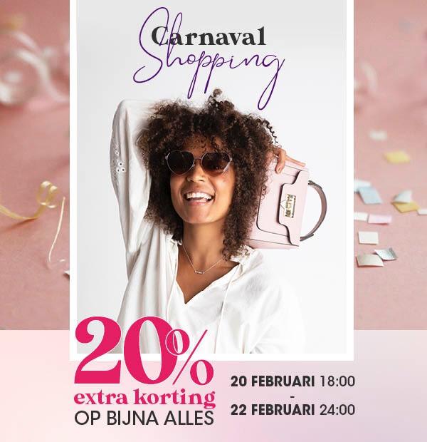 Carnaval Shopping -20% extra op bijna alles bij Lucardi!