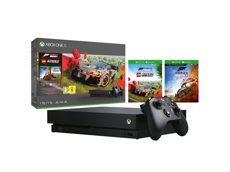Xbox One X + Forza Horizon 4 LEGO bij MediaMarkt of Bol.com voor € 289