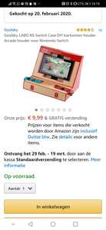 Nintendo Switch Labo Arcade stand @ Amazon.de