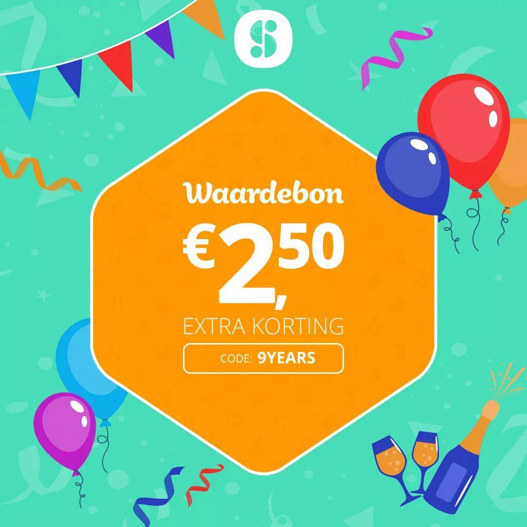 €2,50 social deal tegoed