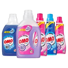 Alle Omo Wasmiddel 5 flessen voor €9,99 @Plus