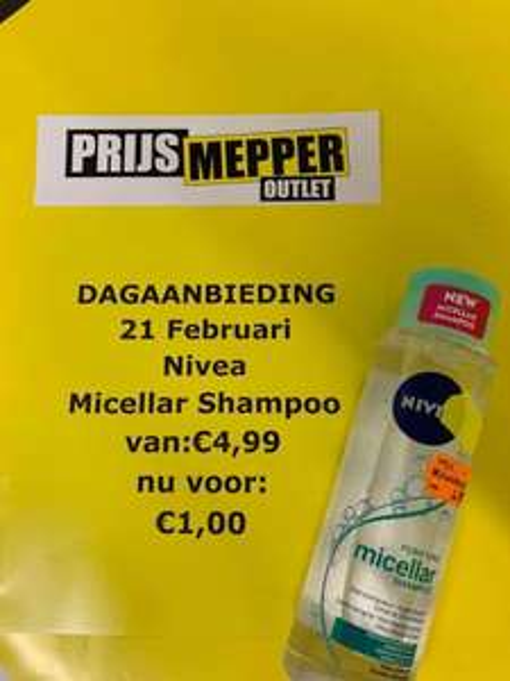 Lokaal - Prijsmepper Haarlem - Nivea Micellar Shampoo - €1