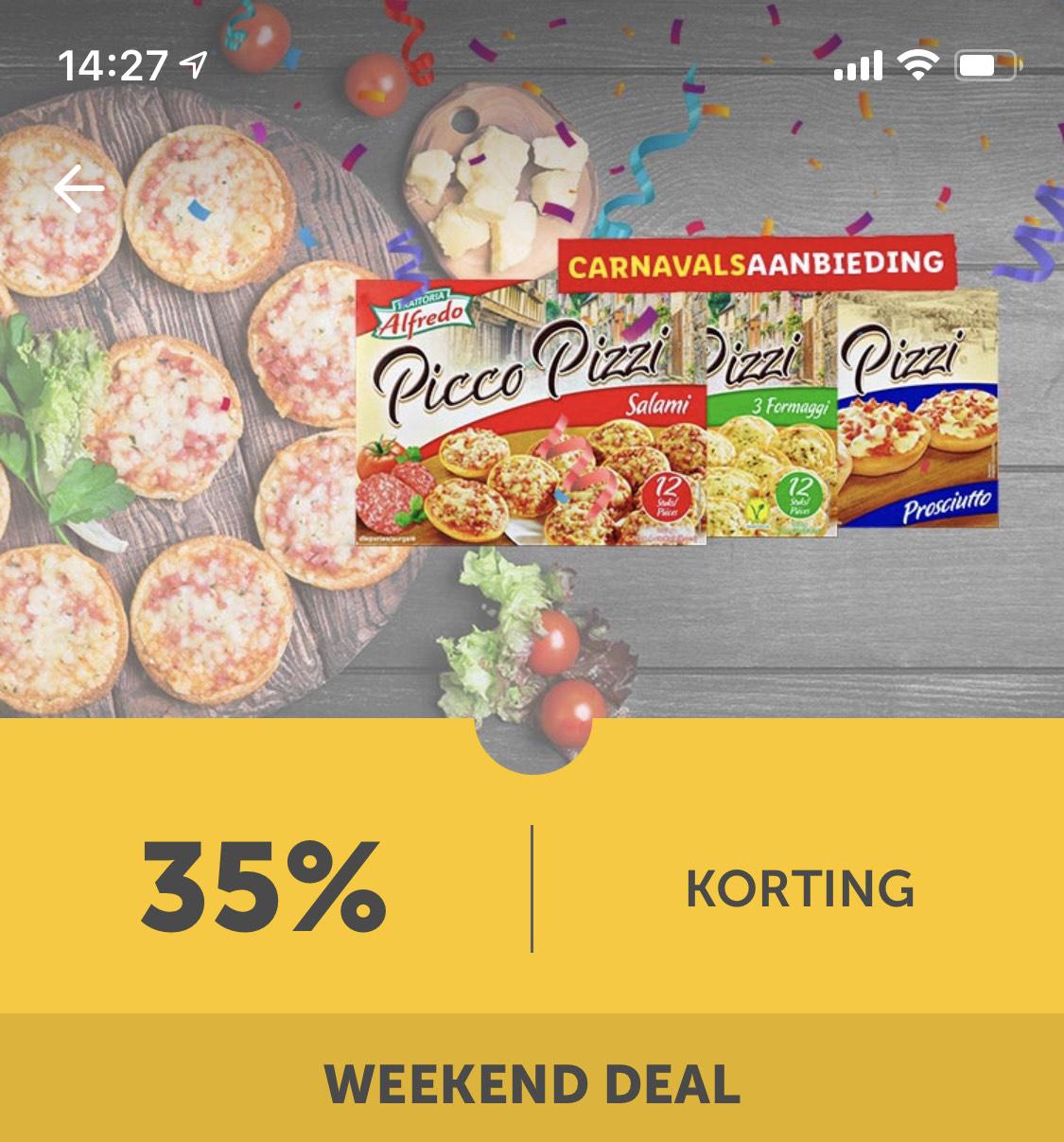 35% korting op pizza dit weekend bij Lidl